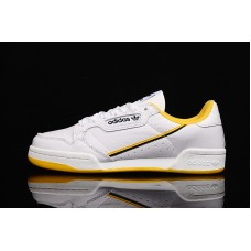 Adidas Continental 80 Men White Yellow 40-45