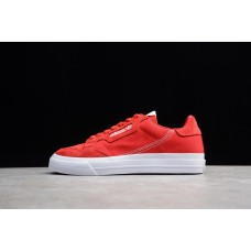 Unisex Adidas Continental Vulc Red White EF3525 36-44