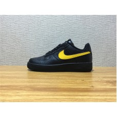 Men Nike Air Force 1 07 LV8 LOW Black Yellow Shoe Item NO AA4083 002