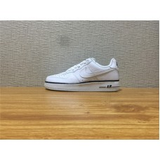 Men Nike Air Force 1 White Black Shoe Item NO 488298 160