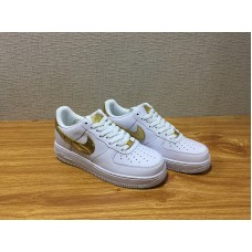 Unisex Nike Air Force 1 CR7 Skate White Gold Shoe Item NO AQ0666 100