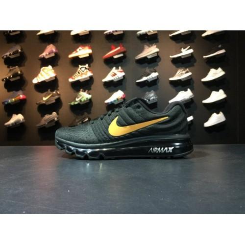 super popular c7dfb eb1a3 Men Nike Air Max 2017 Running Black Gold Shoe Item NO 849559 993