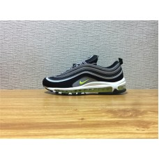 Men Nike Air Max 97 Running Black White Silvery Shoe Item NO 921826 004