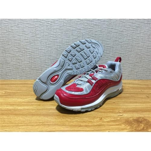 039d856dca02 ... Nike Air Max 98 Sale - Men Nike Air Max 98 Supreme Running Silvery Red  Shoe ...