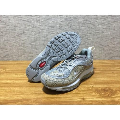 ec88c7b992c ... Nike Air Max 98 Sale - Men Nike Air Max 98 Supreme Running Silvery Shoe  Item ...
