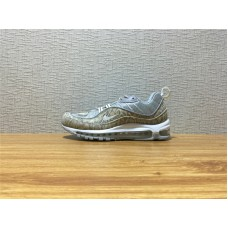 Men Nike Air Max 98 Supreme Running Silvery Shoe Item NO 844694 100