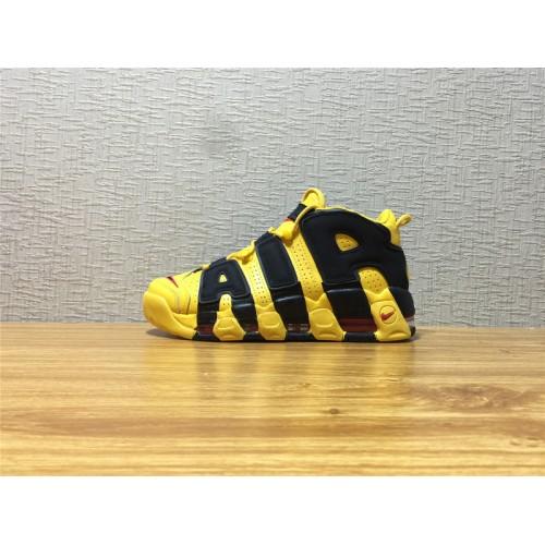 a pesar de frente Gran universo  Best Men Nike Air More Uptempo Running Black Yellow Shoe Item NO 414962 700  - Nike Air More Uptempo Shoes sale