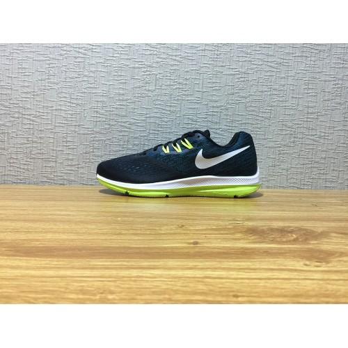 low priced 24e31 e7ab1 Men Nike Zoom Winflo 4 Running Black Blue Shoe Item NO 898466 003