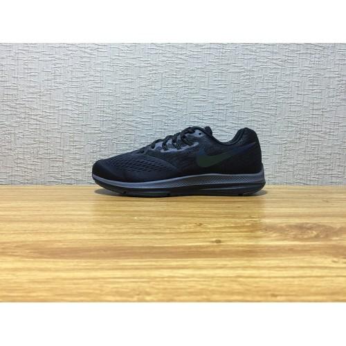 innovative design 209fd c6531 Men Nike Zoom Winflo 4 Running Black Shoe Item NO 898467 001