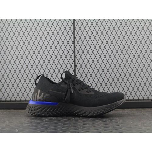 8c1c267b83d8 Cheap Nike Epic React Flyknit Black Blue AQ0067-004 36-45 - Nike ...
