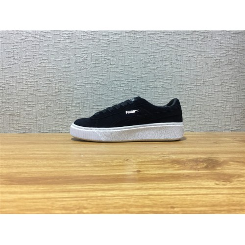 newest 7ae2e 07071 Unisex Puma Suede Platform Black Shoe Item NO 362223 01