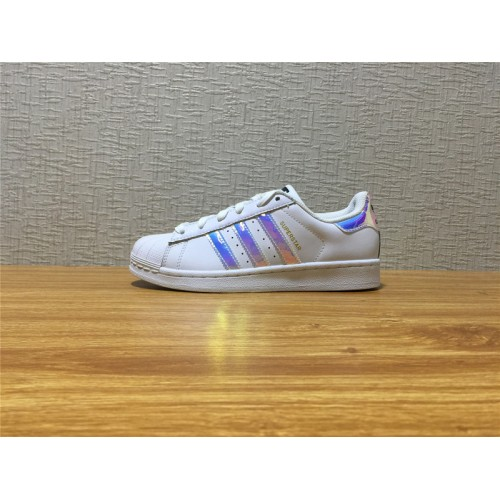 Women Adidas Superstar J White Colorful